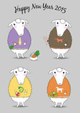 Christmas sheeps Stock Photo