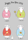 Christmas sheeps Stock Image