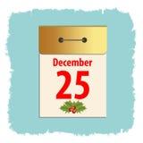 Christmas sheet calendar Stock Photography