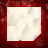 Christmas sheet of curved paper. EPS 10 Royalty Free Stock Photo
