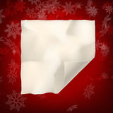 Christmas sheet of curved paper. EPS 10 Royalty Free Stock Photography