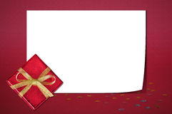Christmas sheet of paper Stock Photos