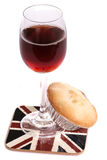Christmas sherry and mince pie Royalty Free Stock Photos
