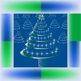 Christmas shimmer tree Royalty Free Stock Image