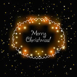 Christmas shimmering card Royalty Free Stock Photos