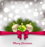 Christmas Shimmering Postcard Stock Image