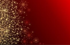 Christmas shine. Christmas glitter and snowflakes on a dark background Stock Photo