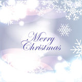 Christmas shiny abstract background with snowflake Royalty Free Stock Photos