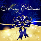Christmas shiny background with bow Royalty Free Stock Image