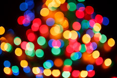 Christmas shiny background with colorful lights Stock Image