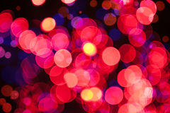 Christmas shiny background with red lights Royalty Free Stock Photo