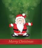 Christmas Shiny Background with Santa Claus Stock Photography