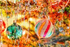 Christmas shiny ball Stock Photos