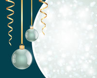 Christmas shiny balls Stock Photos