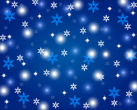 Christmas shiny blue background Stock Images