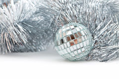 Christmas shiny garland and ball Stock Photo