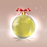 Christmas shiny golden bauble Stock Image
