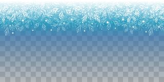 Christmas shiny lights on transparent background. Christmas shiny lights on blue transparent background royalty free illustration