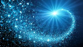 Christmas Shiny Star. Christmas Shiny background with blue magic star. Vector illustration vector illustration
