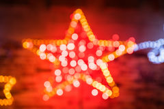 Christmas Shiny Star Lights Royalty Free Stock Photo
