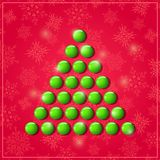 Christmas Shiny Symbolic Green Tree Stock Photos