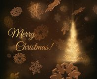 Christmas tree background. Vector EPS10 Royalty Free Stock Photos