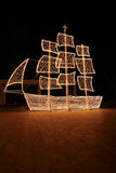 Christmas ship at night Royalty Free Stock Photography