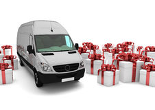 Christmas Shipment Royalty Free Stock Images