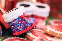 Christmas shoes royalty free stock photos