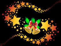 Christmas shooting stars background  Stock Image