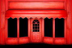 The Christmas Shop. The empty red Christmas Shop for your Art Royalty Free Stock Images