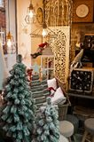 Christmas shop interior seasonal offer Royalty Free Stock Photos