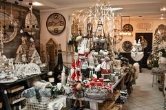 Christmas shop interior seasonal offer Royalty Free Stock Photography