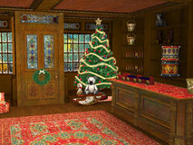 Christmas Shop Toy Store Illustration Royalty Free Stock Images