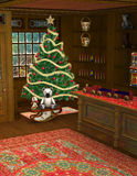 Christmas Shop Toy Store Illustration Stock Images