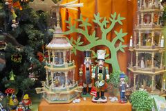 Christmas, shop window Royalty Free Stock Photo