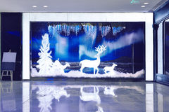 Christmas shop window front royalty free stock image