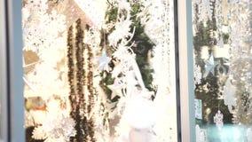 Christmas shop window stock video footage
