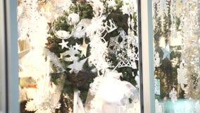Christmas shop window stock footage