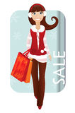 Christmas shopper Stock Photo