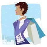 Christmas shopper Royalty Free Stock Photo