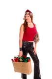 Christmas Shopper Stock Images