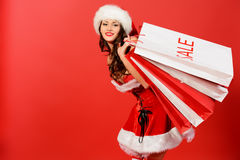 Christmas shopper Royalty Free Stock Photos