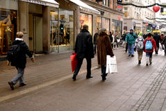 CHRISTMAS SHOPPERS Stock Photography