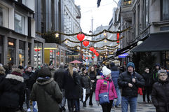CHRISTMAS SHOPPERS Royalty Free Stock Photo