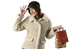 The christmas shopping Stock Photos