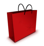 Christmas Shopping. Paper bag with white background vector illustration