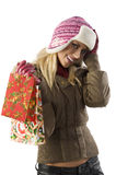 Christmas shopping Stock Photos