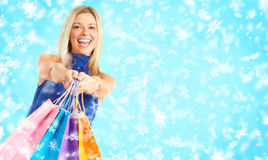 Christmas shopping Royalty Free Stock Photos
