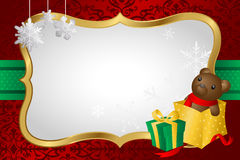 Christmas shopping background Stock Photo